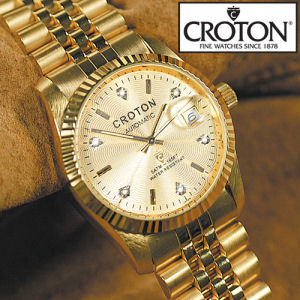 croton gold watches for mens best watchess 2017 croton las automatic 6 diamond gold tone watch collection