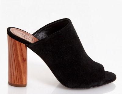 65caa009116 Tory Burch Black Suede Open Toe Block Heel Mules - Choice of US 6 ...