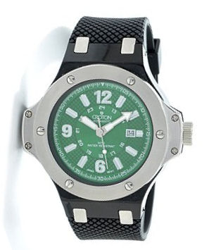 Croton men 39 s military grade polymer case rubber strap watch for Military grade watches