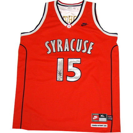 new arrival b0de0 b95dc Bid On a Carmelo Anthony Autographed Syracuse Orange Jersey!