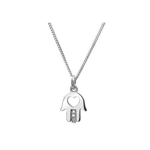 Hot Diamonds Dp272 Ionia Silver Hamsa Pendant Necklace