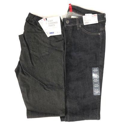 9c794c52234704 UNIQLO Women's Denim- Choice of EASY BLACK DENIM LEGGINGS Size L or SKINNY  FIT STRAIGHT JEANS Size 27 x 33