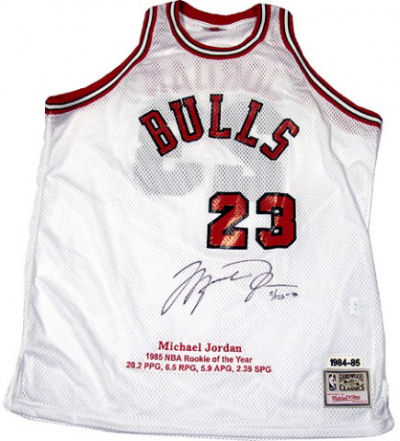 info for 6a5ef 7dce1 Bid for a Michael Jordan Autographed Jersey M&N White Rookie ...