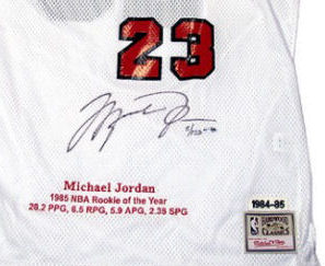 info for 69b9e bc484 Bid for a Michael Jordan Autographed Jersey M&N White Rookie ...