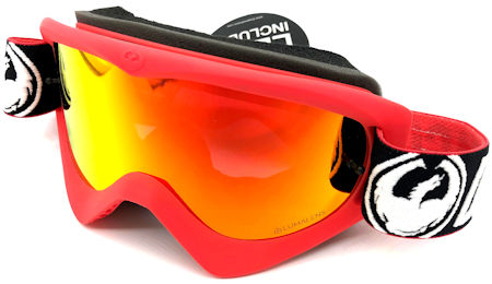Dragon Mdx Mx 17002 Factory Lumalens Red Ion 1 Clear Lens Snow Goggles