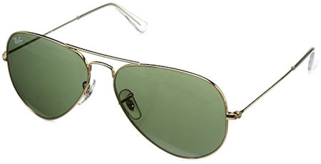 27690ecaf81 Ray-Ban Aviator RB3025 L0205 58 Gold   Green G-15 Lenses Sunglasses 58mm