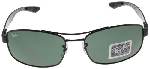 c82066973d Ray-Ban Tech Carbon Fiber Sunglasses RB8316 002 Green Classic G-15 Lens