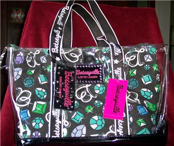 a2a18cb67aaa 100% Authentic Betsey Johnson Betseyville Bling Bling Clear Tote Bag - Brand  New with Tags - Product Dimensions  Outer Clear Plastic measures 13