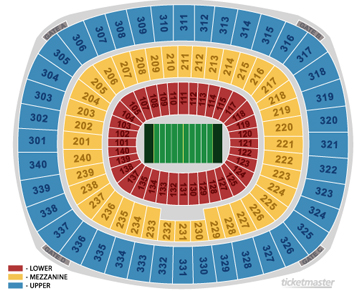 Giants Stadium Map