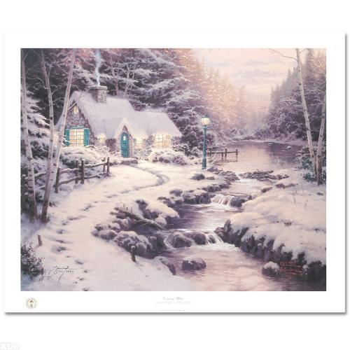 Evening Glow Christmas Cottage X Limited Edition Lithograph By The